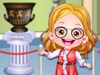 Baby Hazel As Museum Curator