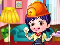 Baby Hazel Electrician Dressup